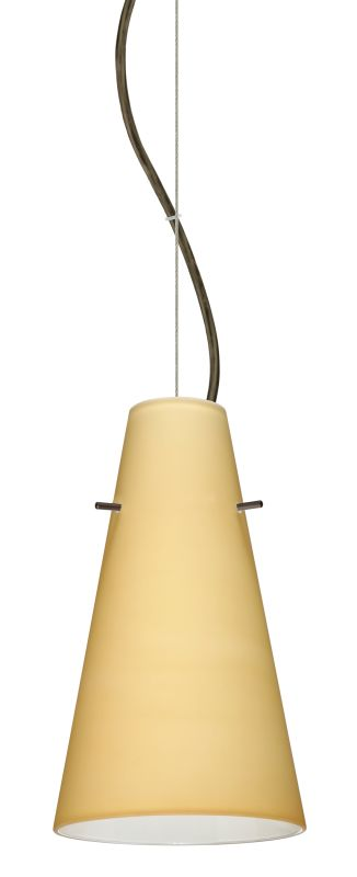 Besa Lighting 1KX-4124VM-LED Cierro 1 Light LED Cable-Hung Pendant
