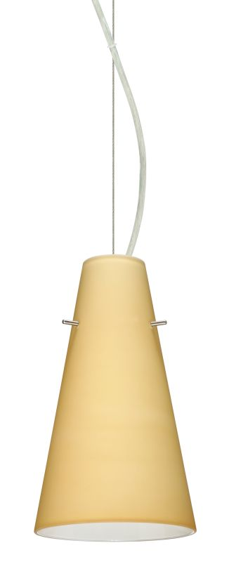 "Besa Lighting 1KX-4124VM Cierro 1 Light Cable-Hung Pendant with Sale $265.50 ITEM: bci2391302 ID#:1KX-4124VM-SN UPC: 767893832551 Product Features: Finish: Bronze , Light Direction: Down Lighting , Width: 5.735"" , Height: 9.375"" , Bulb Type: Compact Fluorescent, Incandescent , Number of Bulbs: 1 , Fully covered under Besa Lighting warranty , Location Rating: Indoor Use :"