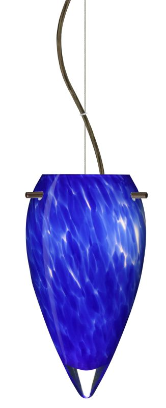 Besa Lighting 1KX-412586 Juli 1 Light Cable-Hung Pendant with Blue Sale $292.50 ITEM: bci2391321 ID#:1KX-412586-BR UPC: 767893832049 :