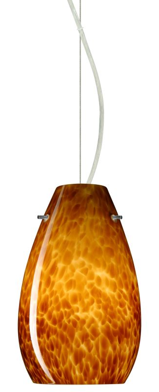 Besa Lighting 1KX-412618 Pera 1 Light Cable-Hung Pendant with Amber