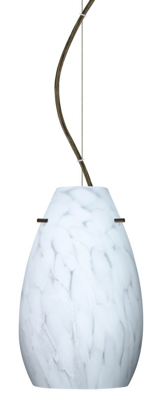 Besa Lighting 1KX-412619-LED Pera 1 Light LED Cable-Hung Pendant with Sale $360.00 ITEM: bci2391347 ID#:1KX-412619-LED-BR UPC: 767893869830 :
