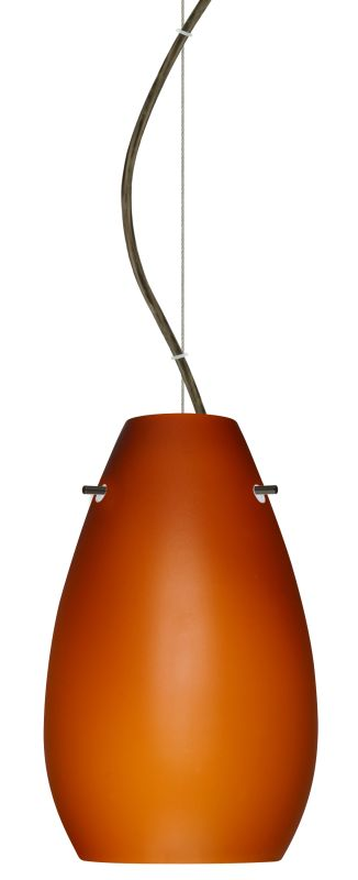 Besa Lighting 1KX-412680 Pera 1 Light Cable-Hung Pendant with Amber Sale $306.00 ITEM: bci2391353 ID#:1KX-412680-BR UPC: 767893831707 :