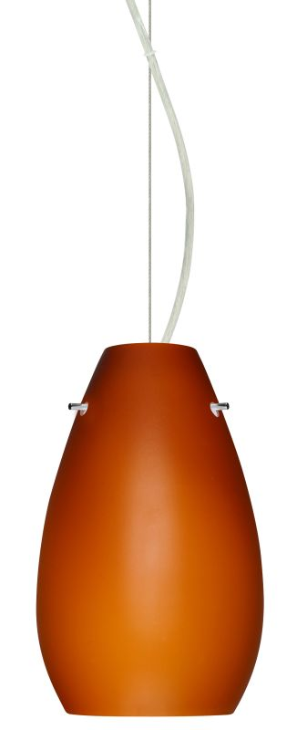 Besa Lighting 1KX-412680 Pera 1 Light Cable-Hung Pendant with Amber