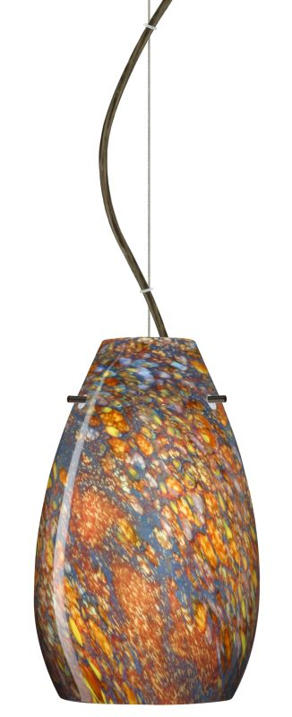Besa Lighting 1KX-4126CE-LED Pera 1 Light LED Cable-Hung Pendant with