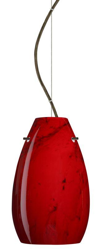Besa Lighting 1KX-4126MA-LED Pera 1 Light LED Cable-Hung Pendant with
