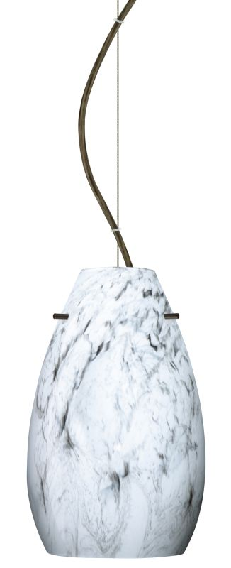 Besa Lighting 1KX-4126MG Pera 1 Light Cable-Hung Pendant with Marble Sale $306.00 ITEM: bci2391377 ID#:1KX-4126MG-BR UPC: 767893831820 :