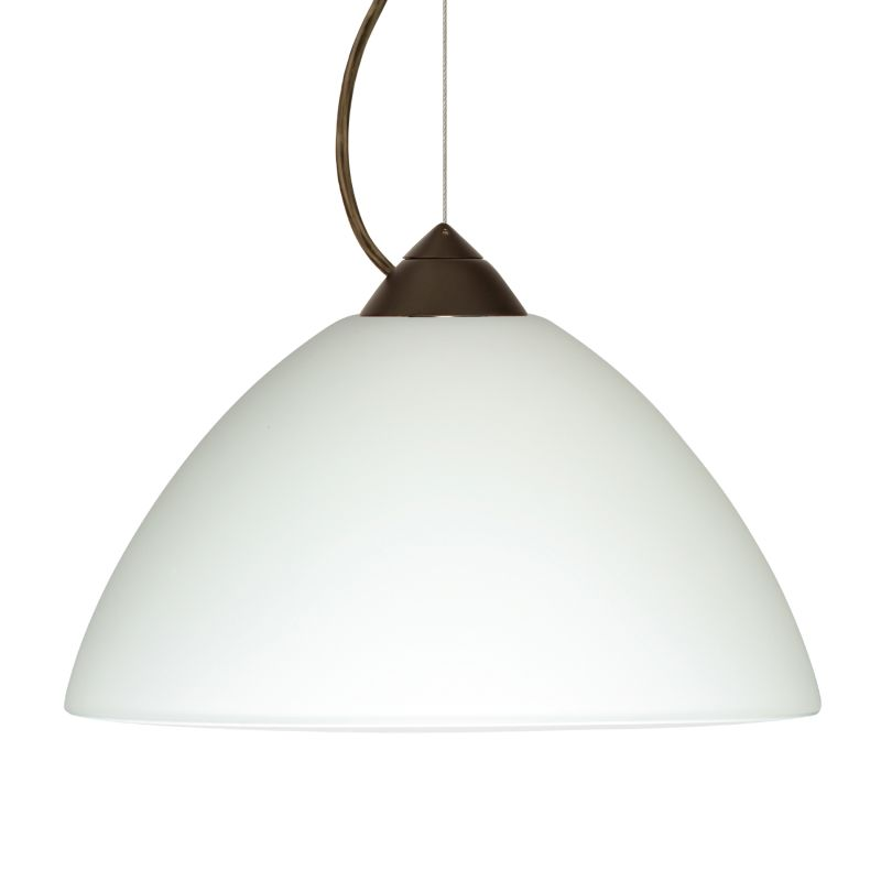 Besa Lighting 1KX-420207 Porto 1 Light Cable-Hung Pendant with White