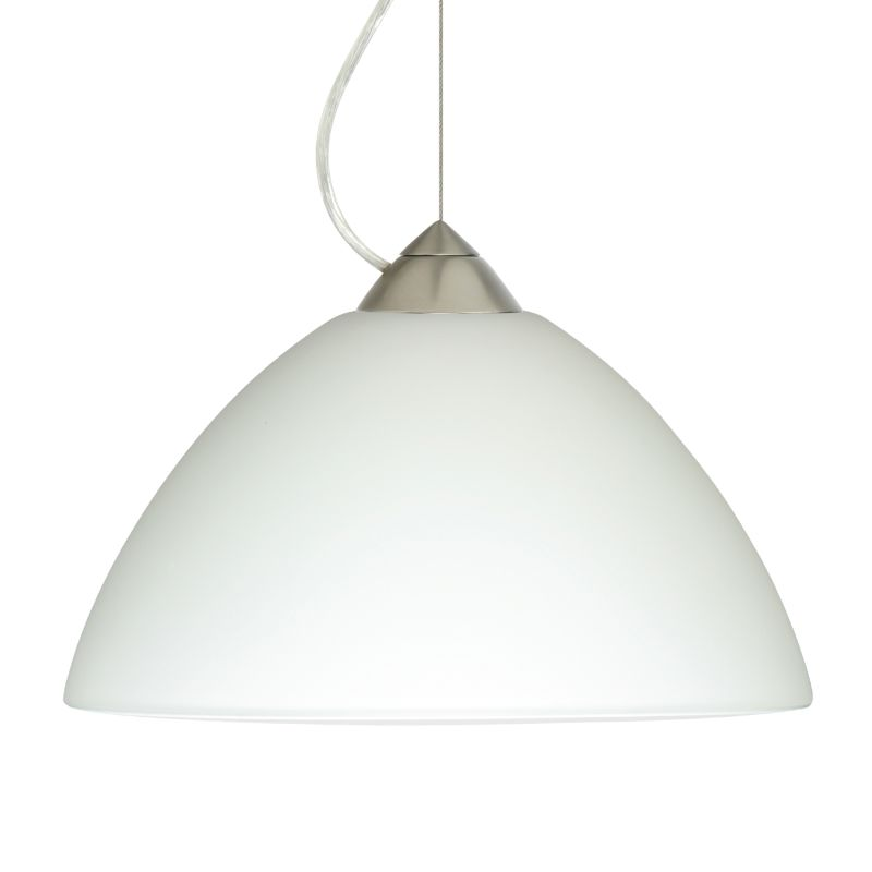 Besa Lighting 1KX-420207 Porto 1 Light Cable-Hung Pendant with White Sale $301.50 ITEM: bci780435 ID#:1KX-420207-SN UPC: 767893368685 :