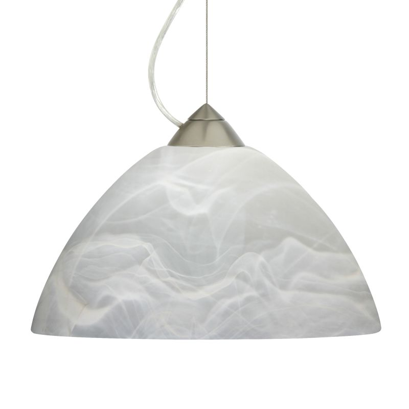 Besa Lighting 1KX-420252 Porto 1 Light Cable-Hung Pendant with Marble