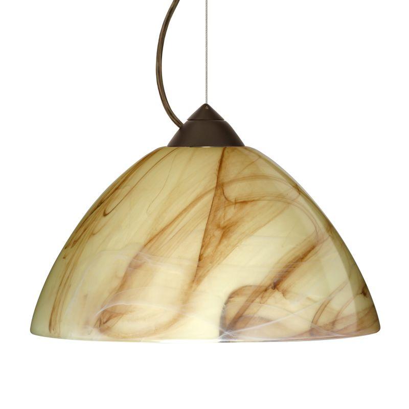 Besa Lighting 1KX-420283 Porto 1 Light Cable-Hung Pendant with Mocha Sale $301.50 ITEM: bci780444 ID#:1KX-420283-BR UPC: 767893368777 :