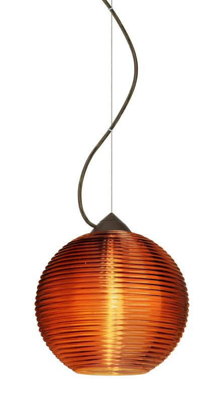 Besa Lighting 1KX-461682-LED Kristall 1 Light LED Mini Pendant with