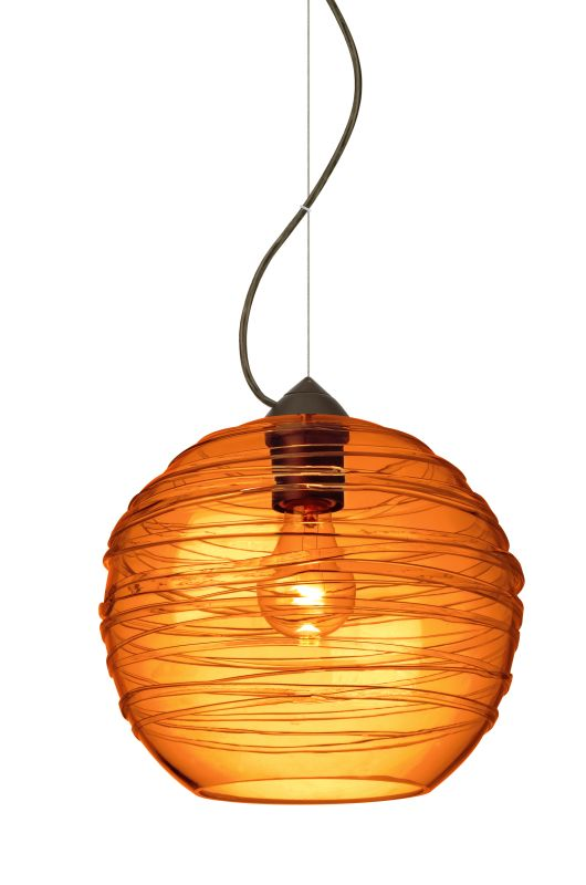 Besa Lighting 1KX-462782 Wave 1 Light Mini Pendant with Amber Shade Sale $324.00 ITEM: bci2272455 ID#:1KX-462782-BR UPC: 767893972745 :