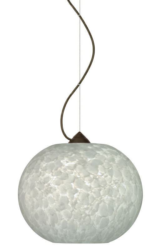 Besa Lighting 1KX-477619 Luna 1 Light Cable-Hung Pendant with Carrera
