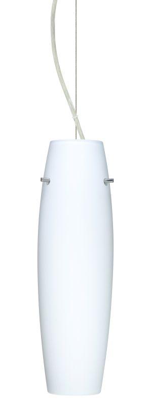 Besa Lighting 1KX-489707 Suzi 1 Light Cable-Hung Pendant with Opal
