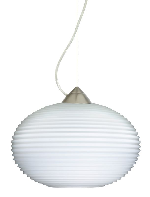 Besa Lighting 1KX-491307 Pape 1 Light Cable-Hung Pendant with Opal