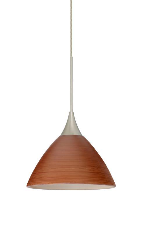 Besa Lighting 1XT-1743CH-LED Domi 1 Light LED Cord-Hung Mini Pendant