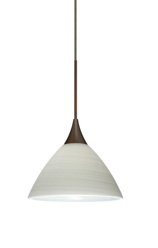 Besa Lighting 1XT-1743KR-LED Domi 1 Light LED Cord-Hung Mini Pendant