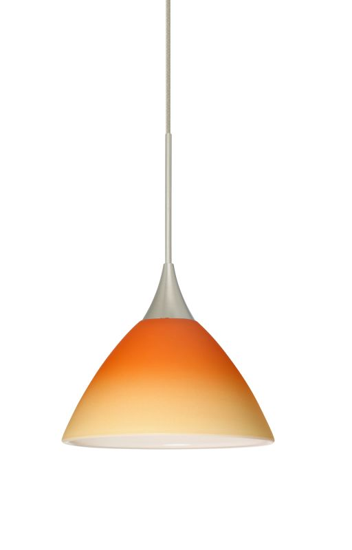 Besa Lighting 1XT-1743OP Domi 1 Light Halogen Cord-Hung Mini Pendant