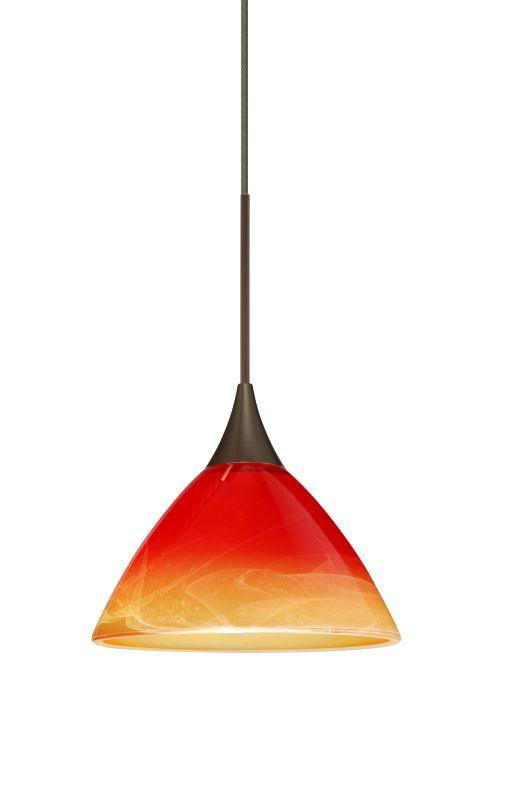 Besa Lighting 1XT-1743SL-LED Domi 1 Light LED Cord-Hung Mini Pendant