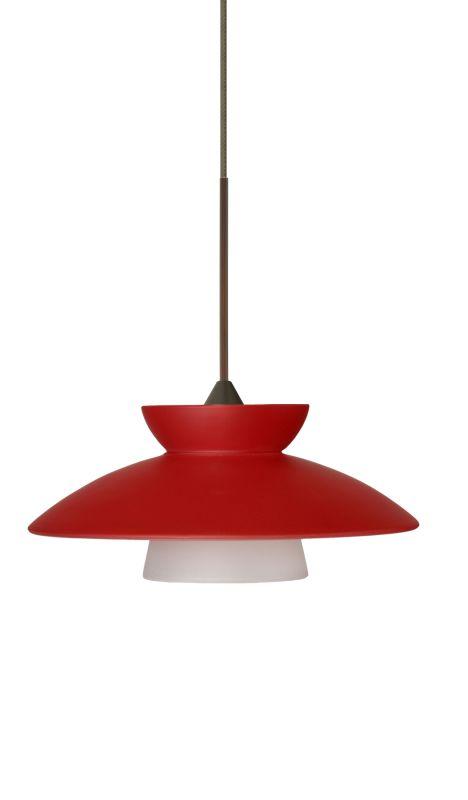 Besa Lighting 1XT-271831 Trilo 1 Light Halogen Cord-Hung Mini Pendant