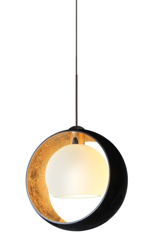 Besa Lighting 1XT-4293GF-LED Pogo 1 Light LED Mini Pendant with Black