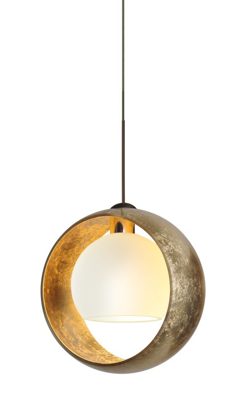 Besa Lighting 1XT-4293GG Pogo 1 Light Mini Pendant with Gold and Inner