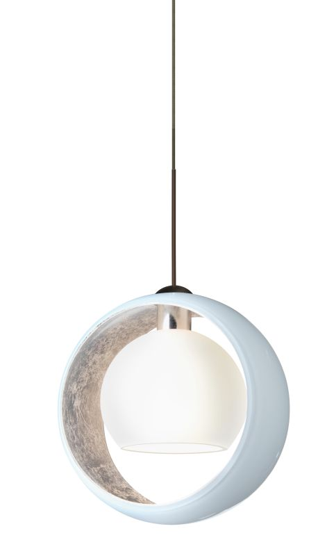 Besa Lighting 1XT-4293SF Pogo 1 Light Mini Pendant with White and