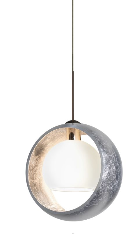 Besa Lighting 1XT-4293SS Pogo 1 Light Mini Pendant with Silver and
