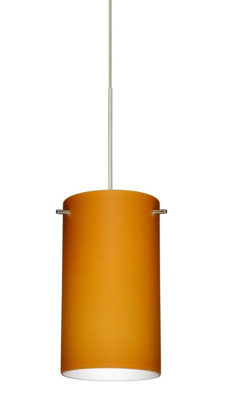 """Besa Lighting 1XT-440480-LED Stilo 1 Light LED Cord-Hung Mini Pendant Sale $328.50 ITEM: bci2394572 ID#:1XT-440480-LED-SN UPC: 767893361679 Product Features: Finish: Bronze , Light Direction: Down Lighting , Width: 4"""" , Height: 7"""" , Bulb Type: LED , Number of Bulbs: 1 , Fully covered under Besa Lighting warranty , Location Rating: Indoor Use :"""