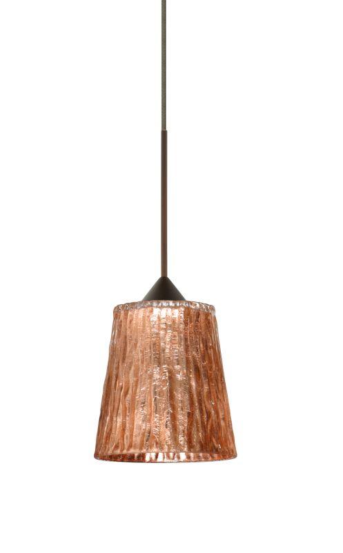Besa Lighting 1XT-5125CF-LED Nico 1 Light LED Cord-Hung Mini Pendant