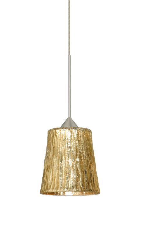 Besa Lighting 1XT-5125GF-LED Nico 1 Light LED Cord-Hung Mini Pendant