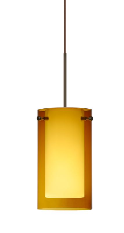 Besa Lighting 1XT-G44007-LED Pahu 1 Light LED Cord-Hung Mini Pendant