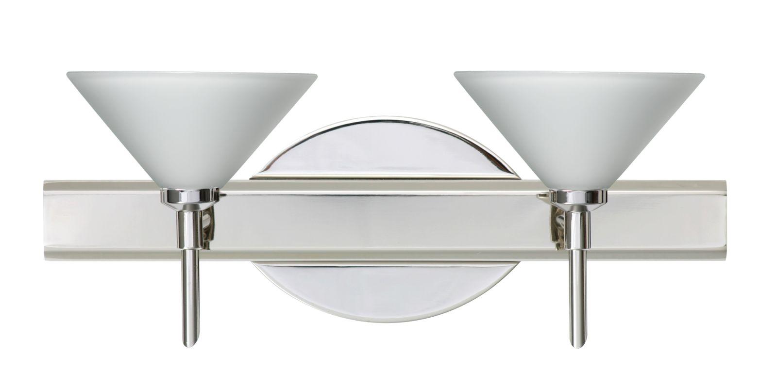 Besa Lighting 2SW-117607 Kona 2 Light Reversible Halogen Bathroom