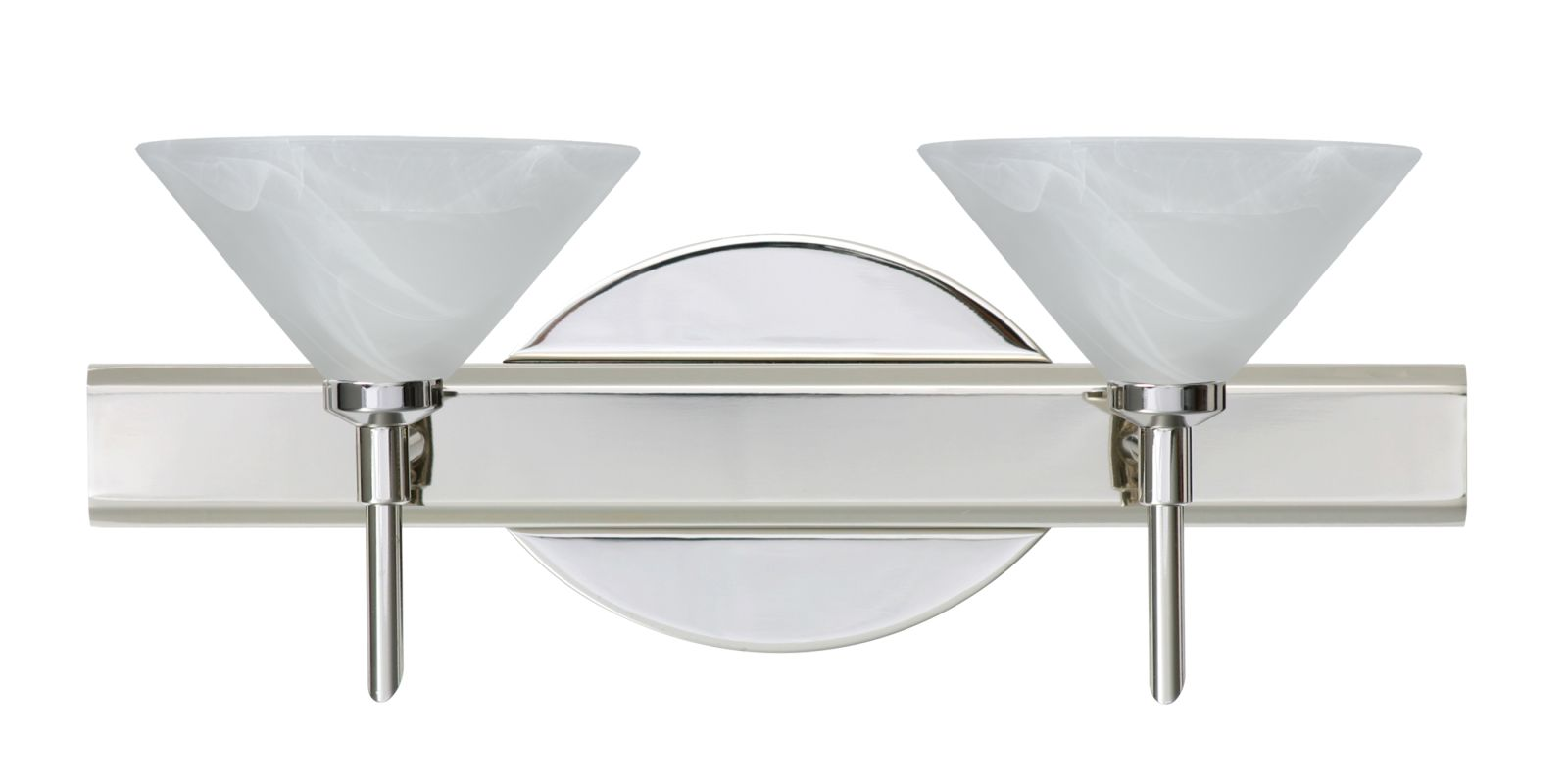 Besa Lighting 2SW-117652 Kona 2 Light Reversible Halogen Bathroom