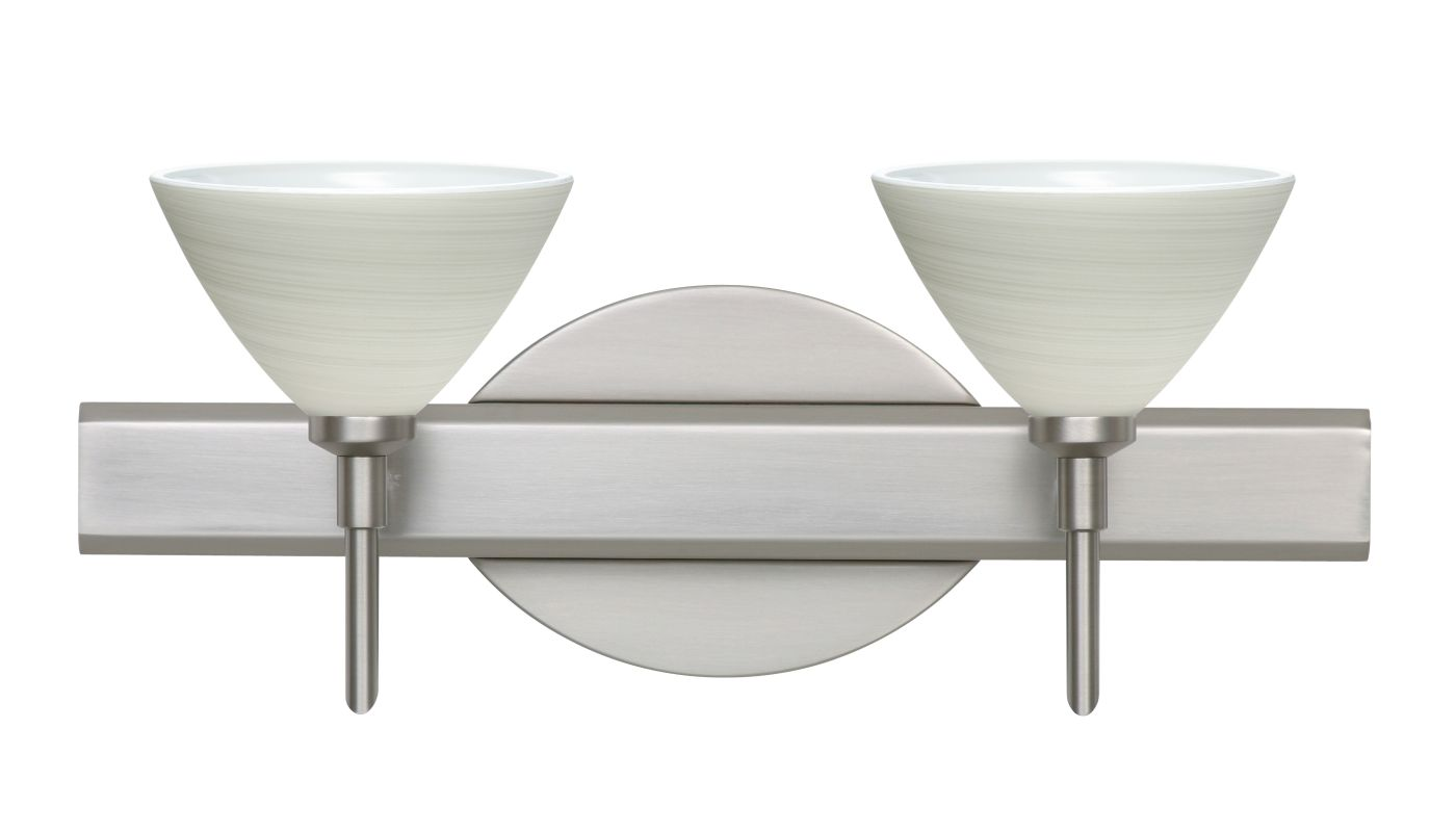 Besa Lighting 2SW-1743KR Domi 2 Light Reversible Halogen Bathroom