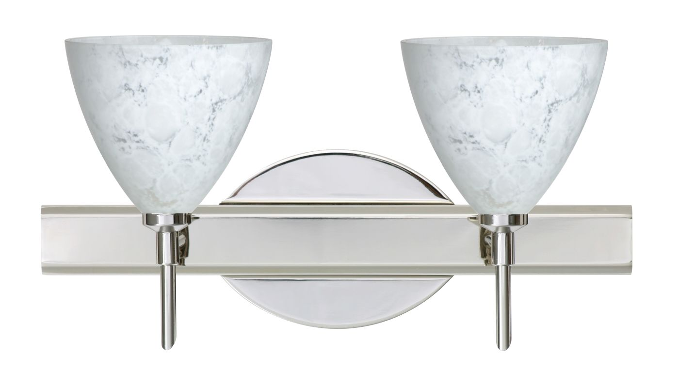 Bathroom Vanity Halogen Lights : Besa Lighting 2SW-177919-CR Chrome Mia 2 Light Reversible Halogen Bathroom Vanity Light with ...