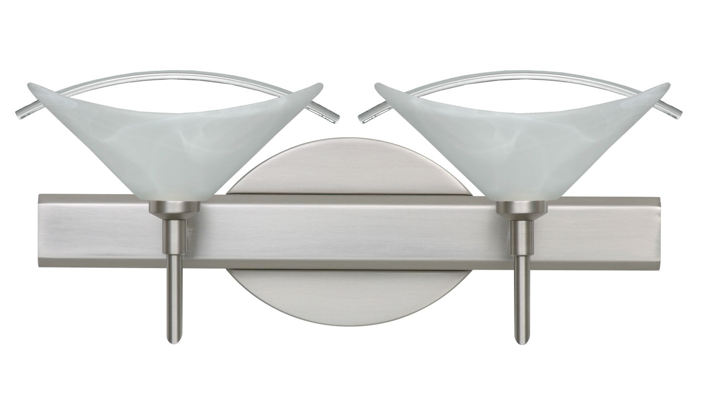 Besa Lighting 2SW-181304 Hoppi 2 Light Reversible Halogen Bathroom