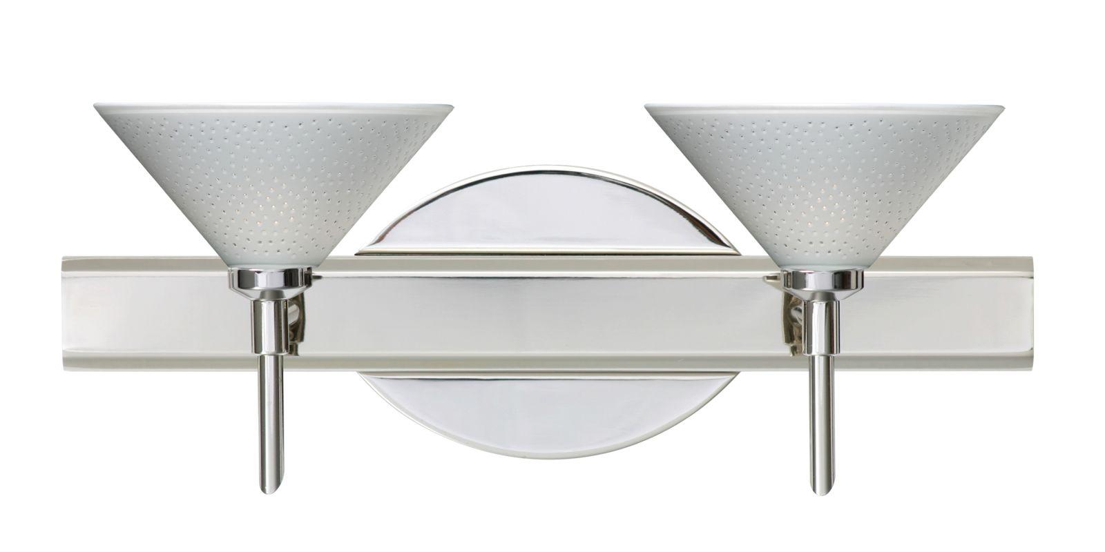 Besa Lighting 2SW-282453 Kona 2 Light Reversible Halogen Bathroom