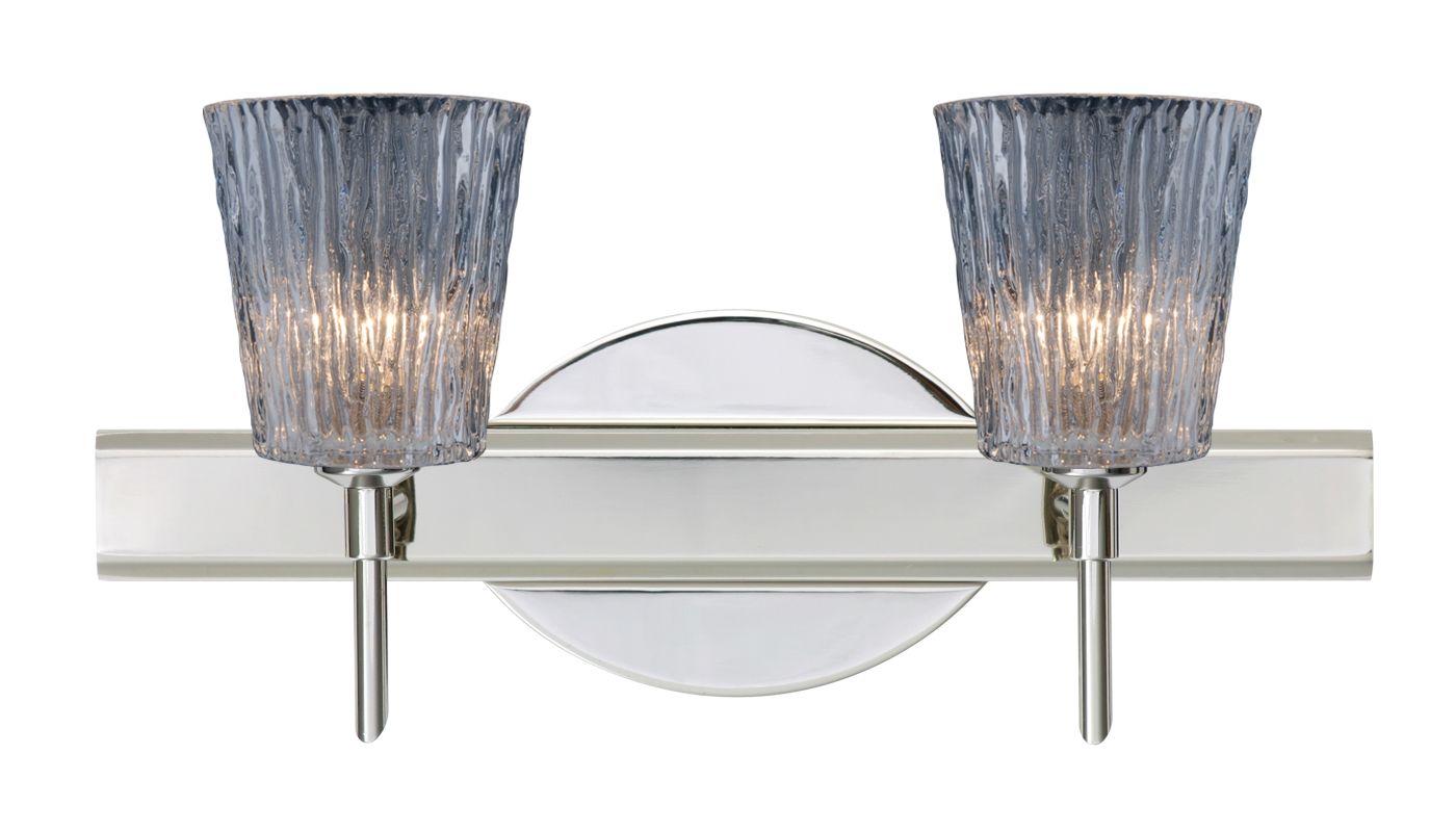 Besa Lighting 2SW-512500 Nico 2 Light Reversible Halogen Bathroom