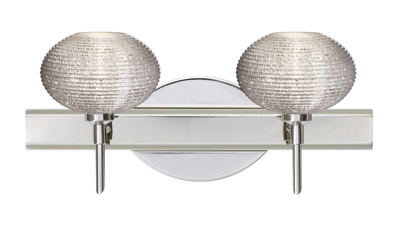 Besa Lighting 2SW-5612GL Lasso 2 Light Reversible Halogen Bathroom