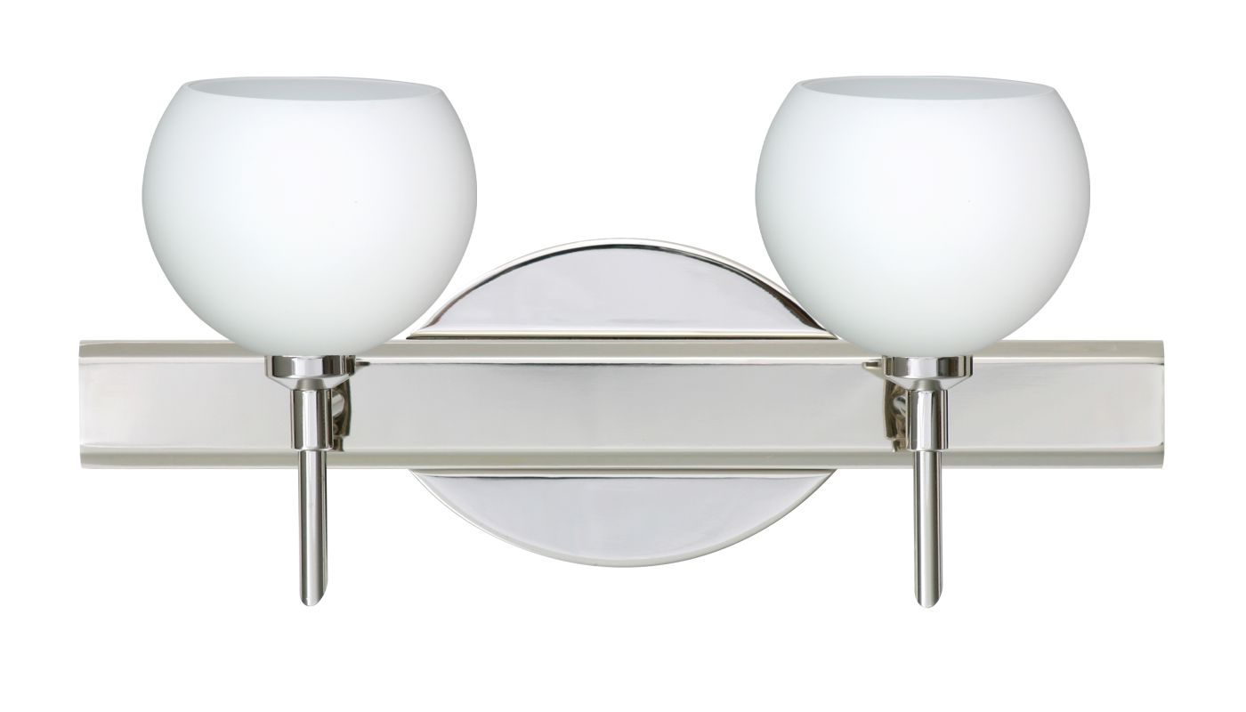 Besa Lighting 2SW-565807 Palla 2 Light Reversible Halogen Bathroom