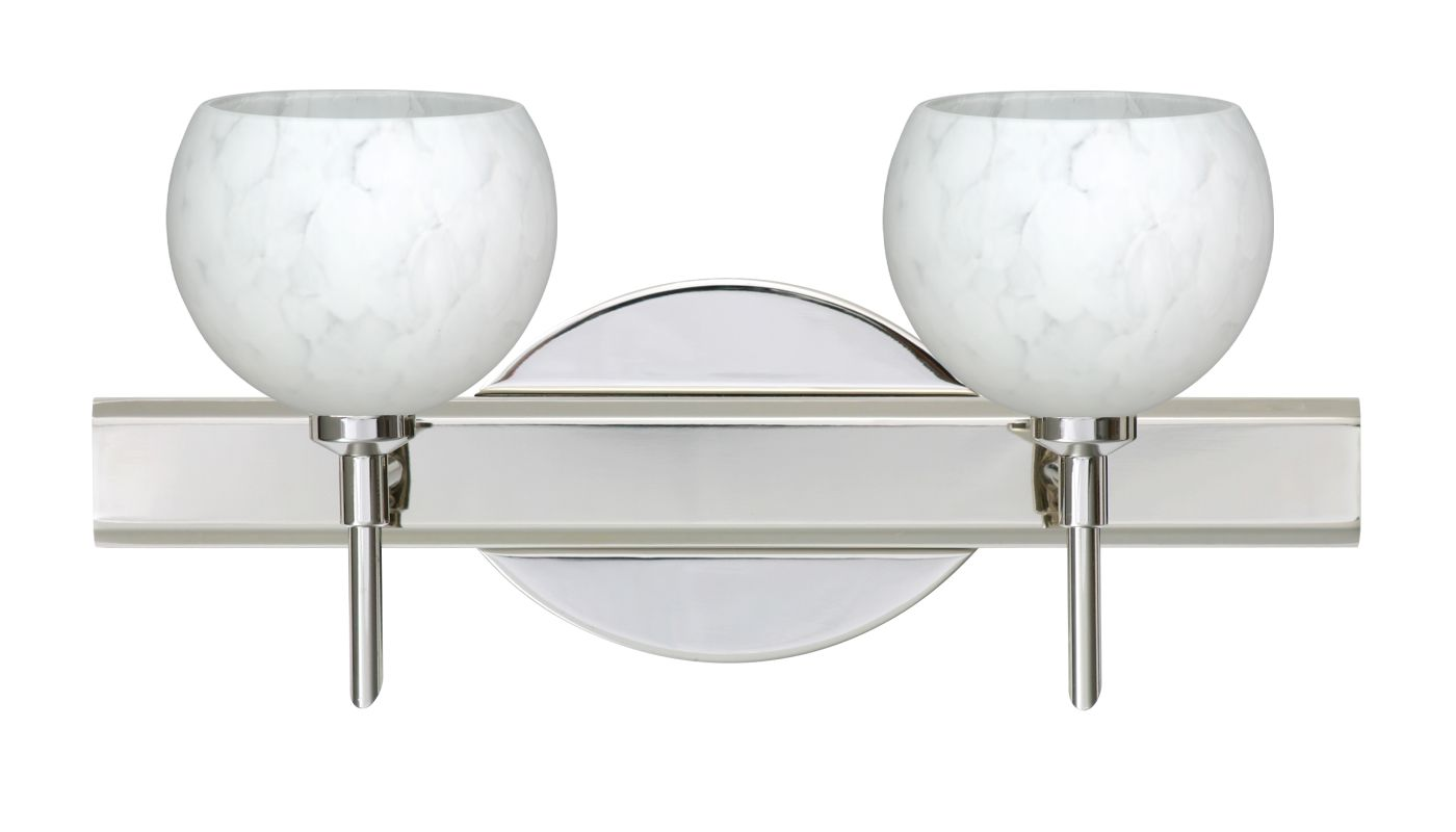 Besa Lighting 2SW-565819 Palla 2 Light Reversible Halogen Bathroom