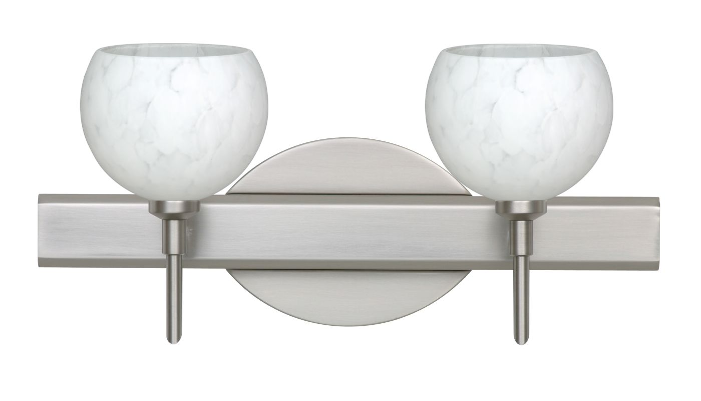 Besa Lighting 2SW-565819 Palla 2 Light Reversible Halogen Bathroom