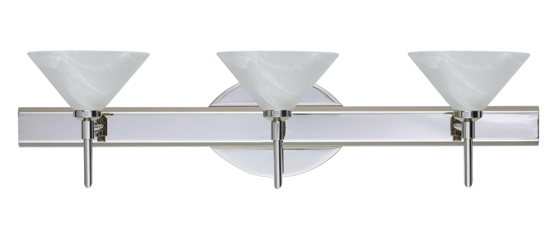 Besa Lighting 3SW-117652 Kona 3 Light Reversible Halogen Bathroom
