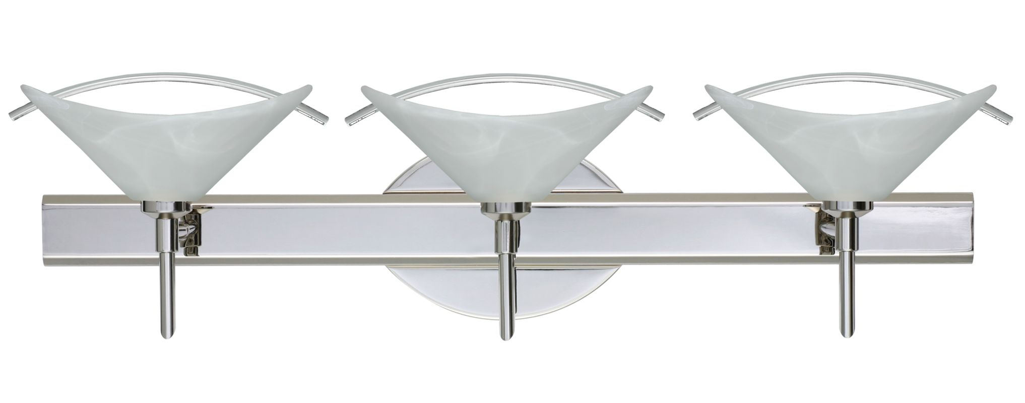 Tech 700bcgiar Gia Contemporary Led Bathroom Lighting: Besa Lighting 3SW-181304-CR Chrome Hoppi 3 Light