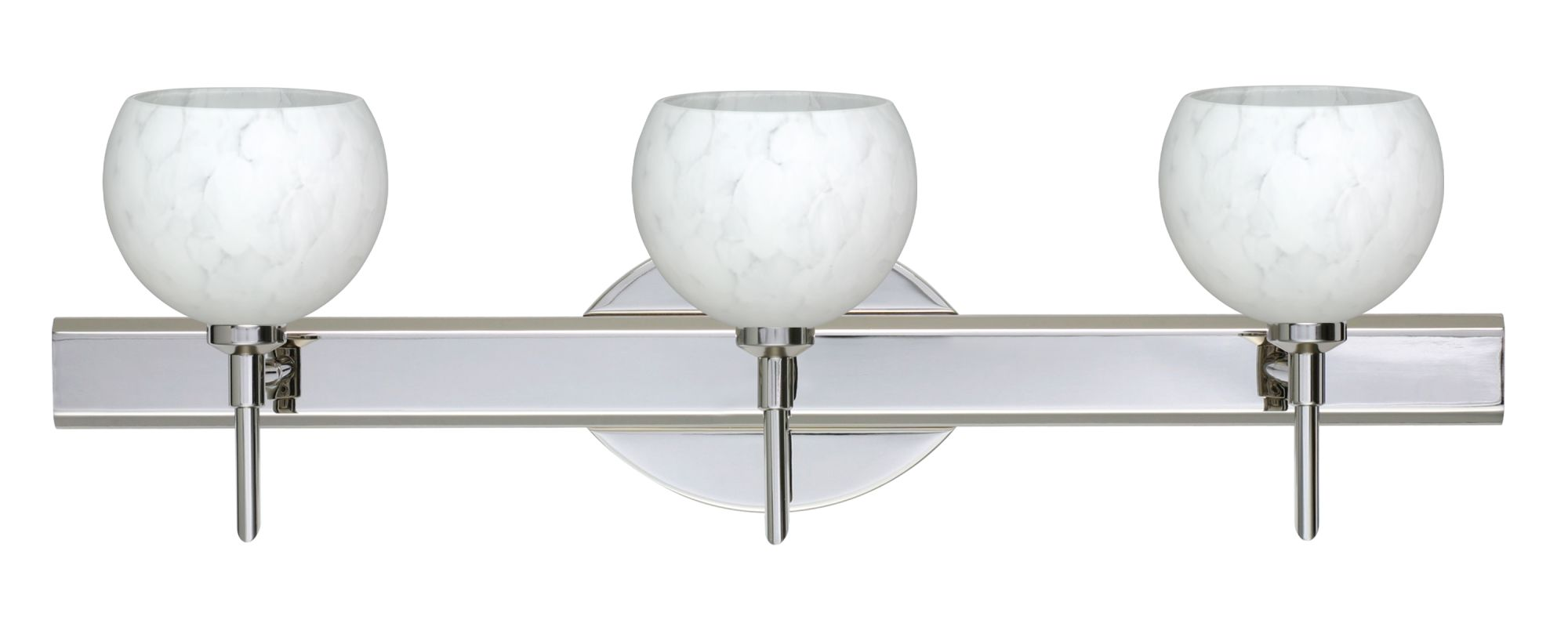 Besa Lighting 3SW-565819 Palla 3 Light Reversible Halogen Bathroom