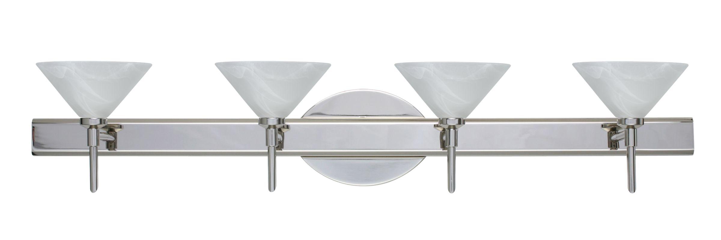 Besa Lighting 4SW-117652 Kona 4 Light Reversible Halogen Bathroom