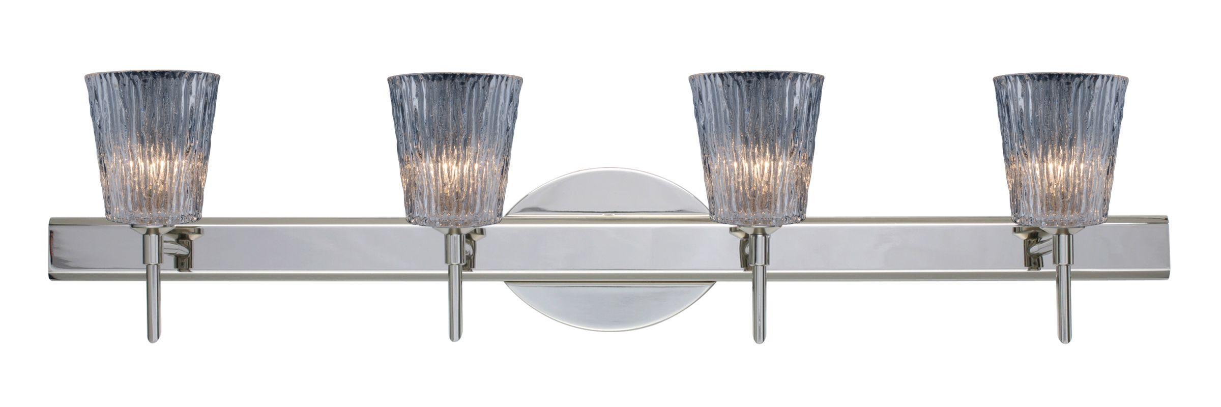 Besa Lighting 4SW-512500 Nico 4 Light Reversible Halogen Bathroom