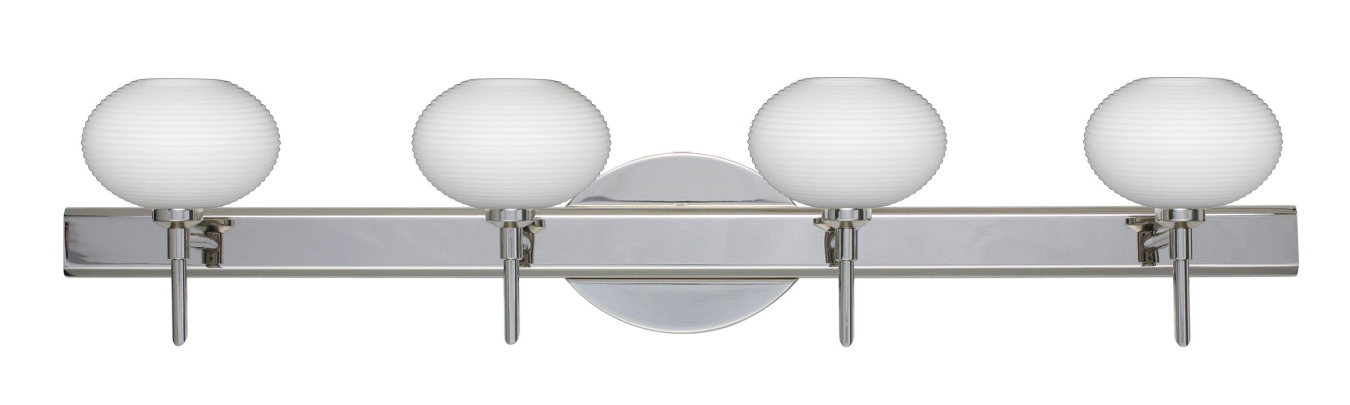 Besa Lighting 4SW-561207 Lasso 4 Light Reversible Halogen Bathroom