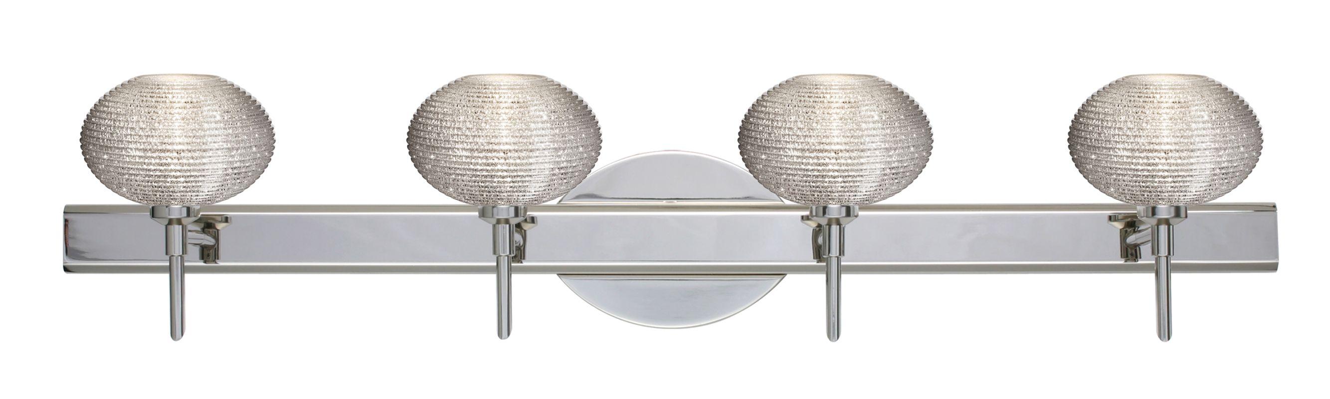 Besa Lighting 4SW-5612GL Lasso 4 Light Reversible Halogen Bathroom